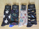 MENS K BELL SOCKS SOX HOBBIES Bicyling Camping Fishing FU  Size 10-13 YOU Choose