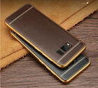 Luxury Electroplating Border Soft TPU Leather Case Cover For Samsung Galaxy S8
