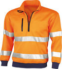 Warnschutz Sweatshirt Pullover Troyer orange Gr. S M L XL XXL XXXL 4XL 5XL 6XL