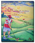 Wood Plaque/Icon - Religious Art - Golfer: The One Who Can by Br. McGrath, OSFS