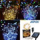 Solar Powered 66FT 200 LED Copper Wire String Fairy Lights Outdoor Xmas Party