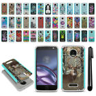 For Motorola Moto Z Droid Edition Hybrid Bumper Shockproof Case Cover + Pen
