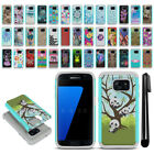 For Samsung Galaxy S7 G930 Hybrid Bumper Shockproof Hard TPU Case Cover + Pen