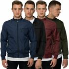 Loyalty & Faith Mens Lightweight Bomber Coat Water Resistant Zip Button Jacket