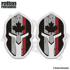 Thin Red Line Canada Subdued Flag Spartan Canadian Stickers Decals SET TCS