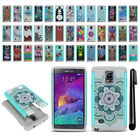 For Samsung Galaxy Note 4 N910 Hybrid Bumper Shockproof Case Cover + Pen