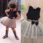 2pcs Toddler Kid Outfits T-Shirt Tops+Flower Tutu Skirt Dress Baby Girls Clothes