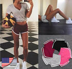 Fashion Summer Pants Women Sports Shorts Gym Workout Waistband Skinny Yoga Short
