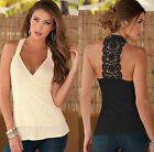 S-XL Women Summer Lace Vest Top Sleeveless Casual Tank T-Shirt Tops Blouse New