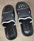 NIP RJS Men's After Golf Slides/Sandals, Charcoal Gray, Manmade Materials $19.99