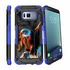 For Samsung Galaxy S8 Plus | S8 Edge Plus G955 Clip Stand Blue Case Stars