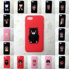 Soft Silicone Cartoon Cute Brown Bear Relax Bear Phone Cases Cover for iPhone