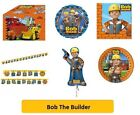 BOB THE BUILDER Birthday Party Range - Tableware Balloons & Decorations