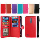 For ZTE Zmax Pro Carry Z981 Flip Card Holder Cash Slots Wallet Cover Case + Pen