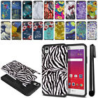 "For LG Tribute HD LS676 X Style 5"" Hybrid Bumper Protective Case Cover + Pen"