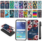 For Samsung Galaxy J7 J700 Hybrid Bumper Protective Hard TPU Case Cover + Pen