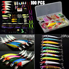 New Colorful Fall Fishing Fish Lures Crankbaits Shads Trout Bass Tackle W/Box