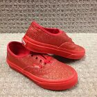 """Vans Kids Shoes """"Authentic"""" -- Shimmer Red"""