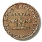 """1859 U.S. """"Business Card"""" of Flagg & MacDonald Boots And Shoes. Rev Die 1368 R-3"""