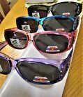 4 Pair Fit over Polarized Sunglasses with crystals  Black Wine Purple Blue frame
