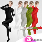 Unisex Lycra Spandex Unitard Mock Turtleneck Long Sleeves Full Fingers Full Foot