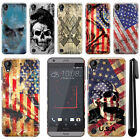 For HTC Desire 530 630 Flag Skull HARD Protector Back Case Phone Cover + Pen