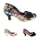 Womens Irregular Choice Dazzle Razzle Low Heels Slip On Court Shoes UK 3.5-8.5