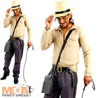 Indiana Adventurer Mens Fancy Dress Safari Jungle Movie Explorer Adults Costume
