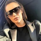 Vintage Oversized Sunglasses Large Big Square Flat Womens Men UV400 Eyewear AS