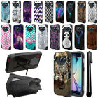 For Samsung Galaxy S6 Edge G925 Hybrid Dual Layer Kickstand Case Cover + Pen