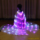 rechargeable led isis wings glow belly dance cosplay light costumes sticks bag