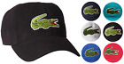 Lacoste Mens Classic Gabardine Premium Cotton Big Croc Logo Adjustable Hat Cap