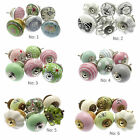 6 Pack Mixed Ceramic Drawer Pulls Cupboard Handles Shabby Chic Knobs (MG-601-6)