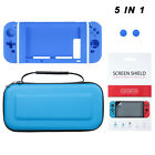 For Nintendo Switch Case+ePET Screen Protector 5in1 Accssories Travel Carry Case