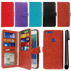 "For Google Pixel XL 5.5"" HTC Flip Card Holder Cash Slot Wallet Cover Case + Pen"