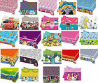 PLASTIC TABLECOVER - LICENSED CHARACTER DESIGNS Range (Birthday Party){SetC}
