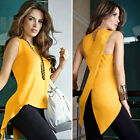 Lady Women's Lady Summer shirt Sleeveless Slim Blouse Casual Tops T-Shirts 2017