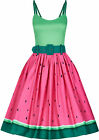 Collectif JADE WATERMELON Fruity Tropical Vintage Pin Up SWING Dress Kleid Rocka