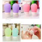 2X Silicone Travel Packing Bottle Shampoo Shower Bath Gel Cleanser Container OE