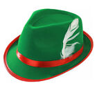 GREEN BAVARIAN HAT OKTOBERFEST MENS GERMAN FESTIVAL CAP FANCY DRESS ACCESSORY