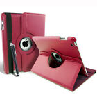 IPAD 2 3 LEATHER 360 CASE COVER STAND SCREEN PROTECTOR STYLUS SMART SLEEP WAKE