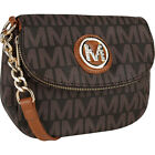 MKF Collection by Mia K. Farrow York M Signature Cross-Body Bag NEW