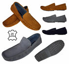 Mens Leather Suede Slip On Shoes Casual Mocassin Designer Loafer Driving Shoe