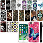 "For Apple iPhone 8 Plus/ iPhone 7 Plus 5.5"" Butterfly HARD Back Case Cover + Pen"