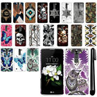 For LG K7 Tribute 5 LS675 MS330/ M1 Butterfly Design HARD Back Case Cover + Pen
