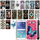 For Samsung Galaxy J7 J700 Butterfly Design HARD Back Case Phone Cover + Pen