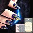 Ultrathin 3D Nail Stickers Star Moon Gold Silver Adhesive Decal Nail Decoration