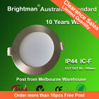 10W LED DOWNLIGHT KIT DIMMABLE IC-F IP44  92MM CUTOUT NATURE/WARM WHITE SILVER