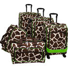American Flyer Animal Print 5 Piece Spinner Luggage Luggage Set NEW