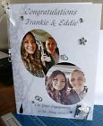 SUPER LARGE Personalised Engagement/Wedding/Anniversary Congrats - 2 Photo Card